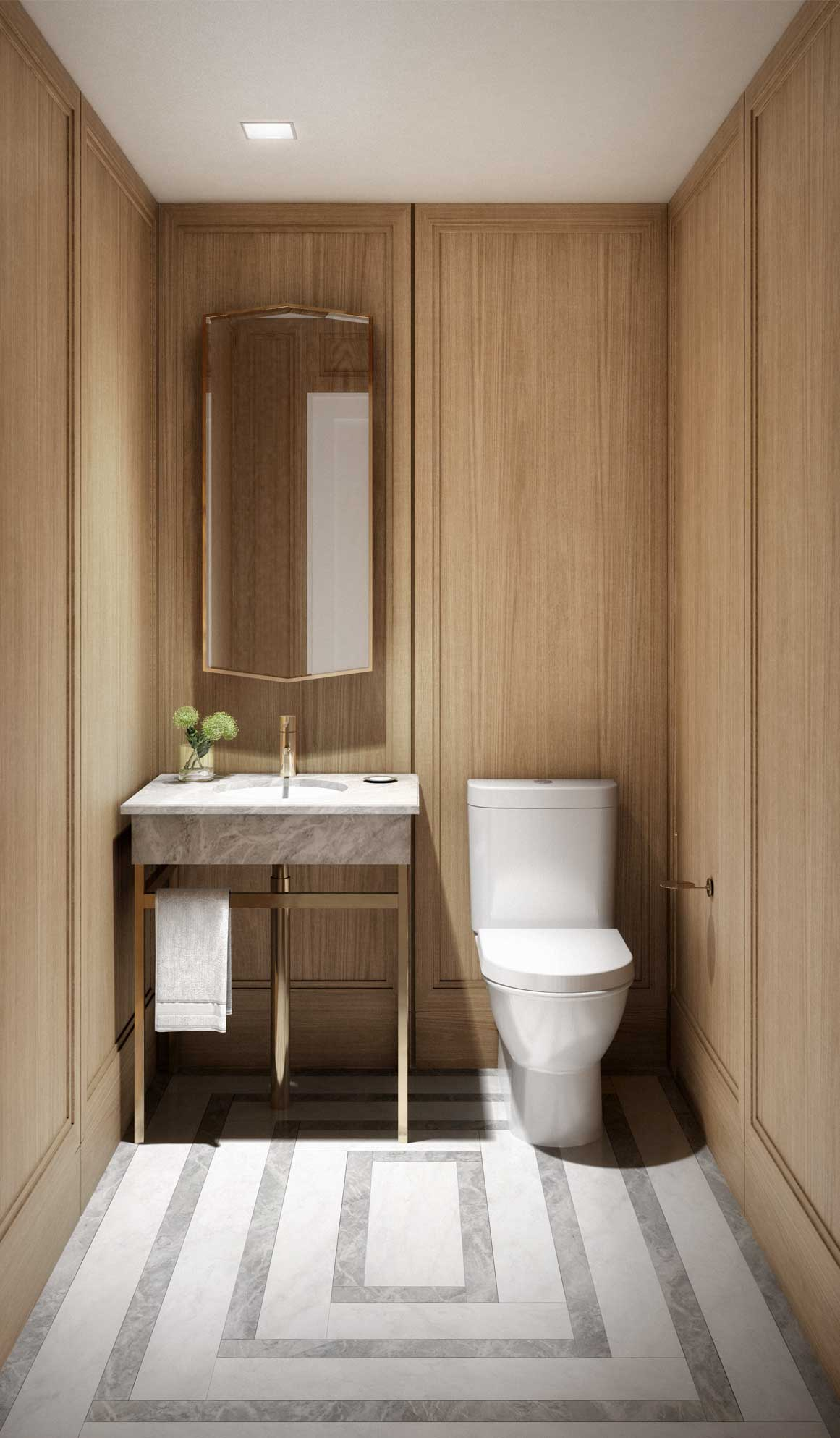 Powder room interior