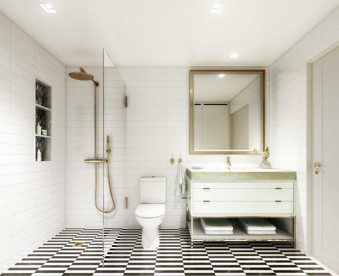 Master bathroom interior