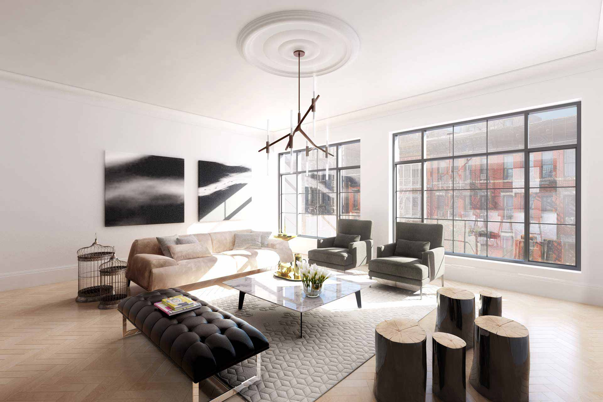 Greatroom rendering in LES