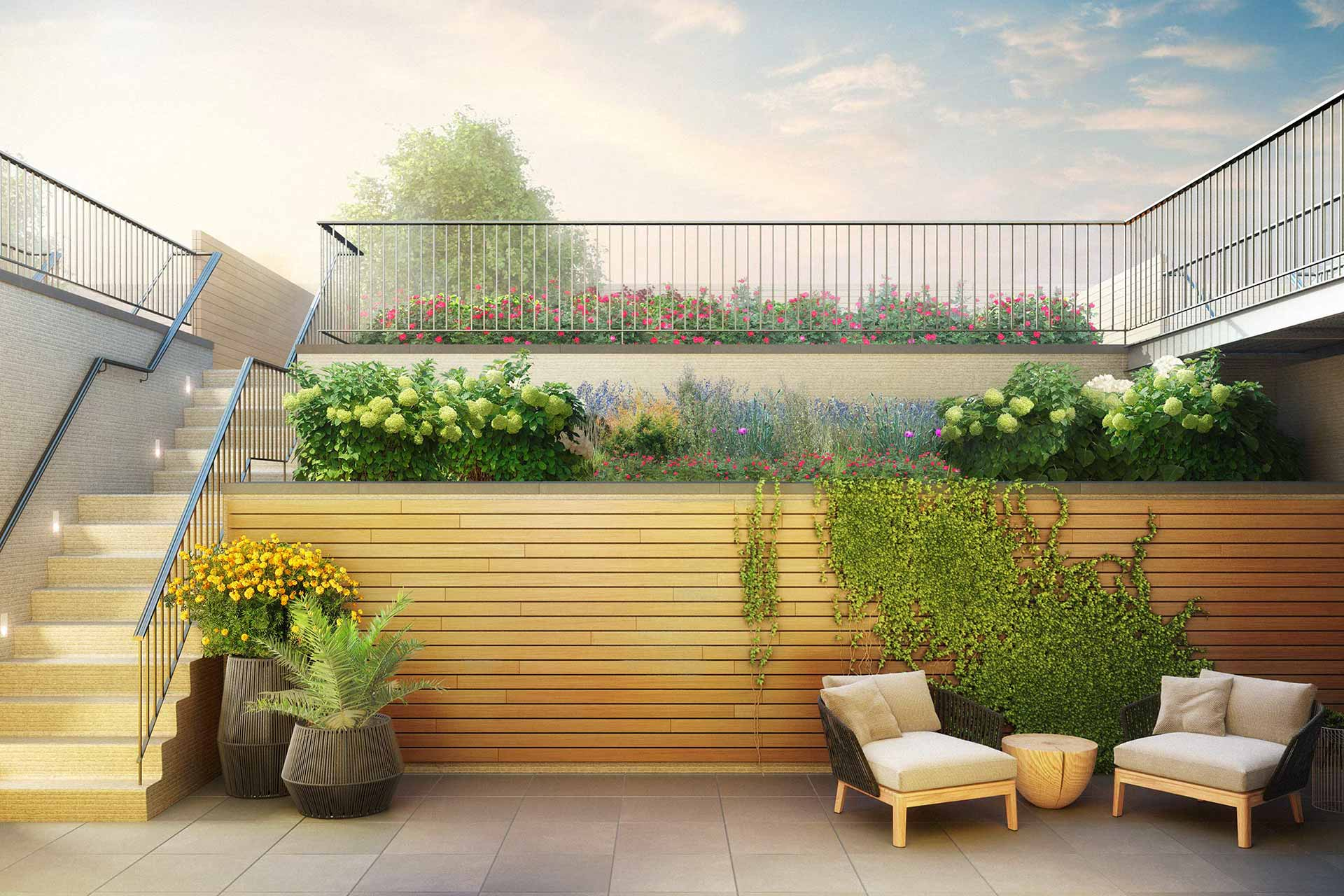 Rendering of backyard garden