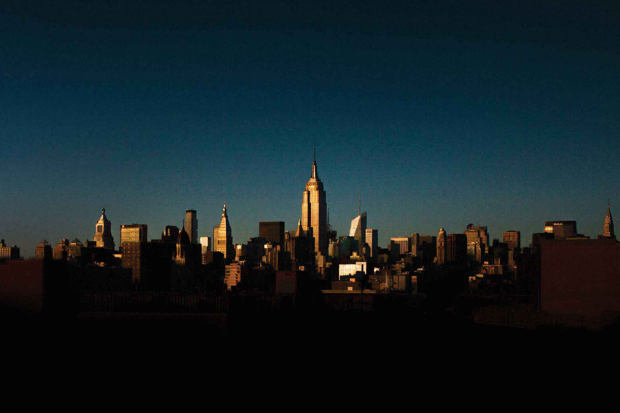 Dusk New York City Skyline