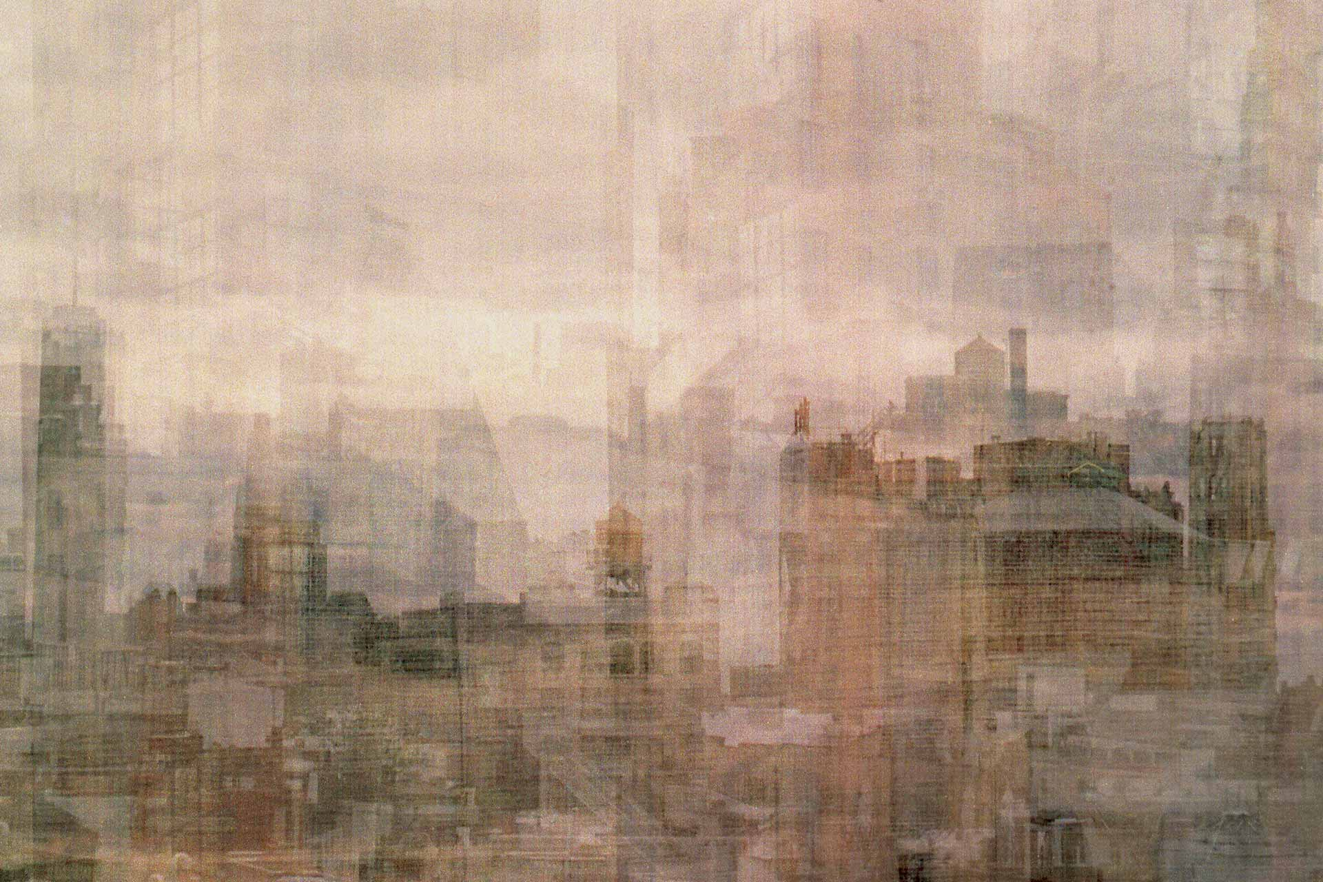 Multiple exposed photo of NYC skyline