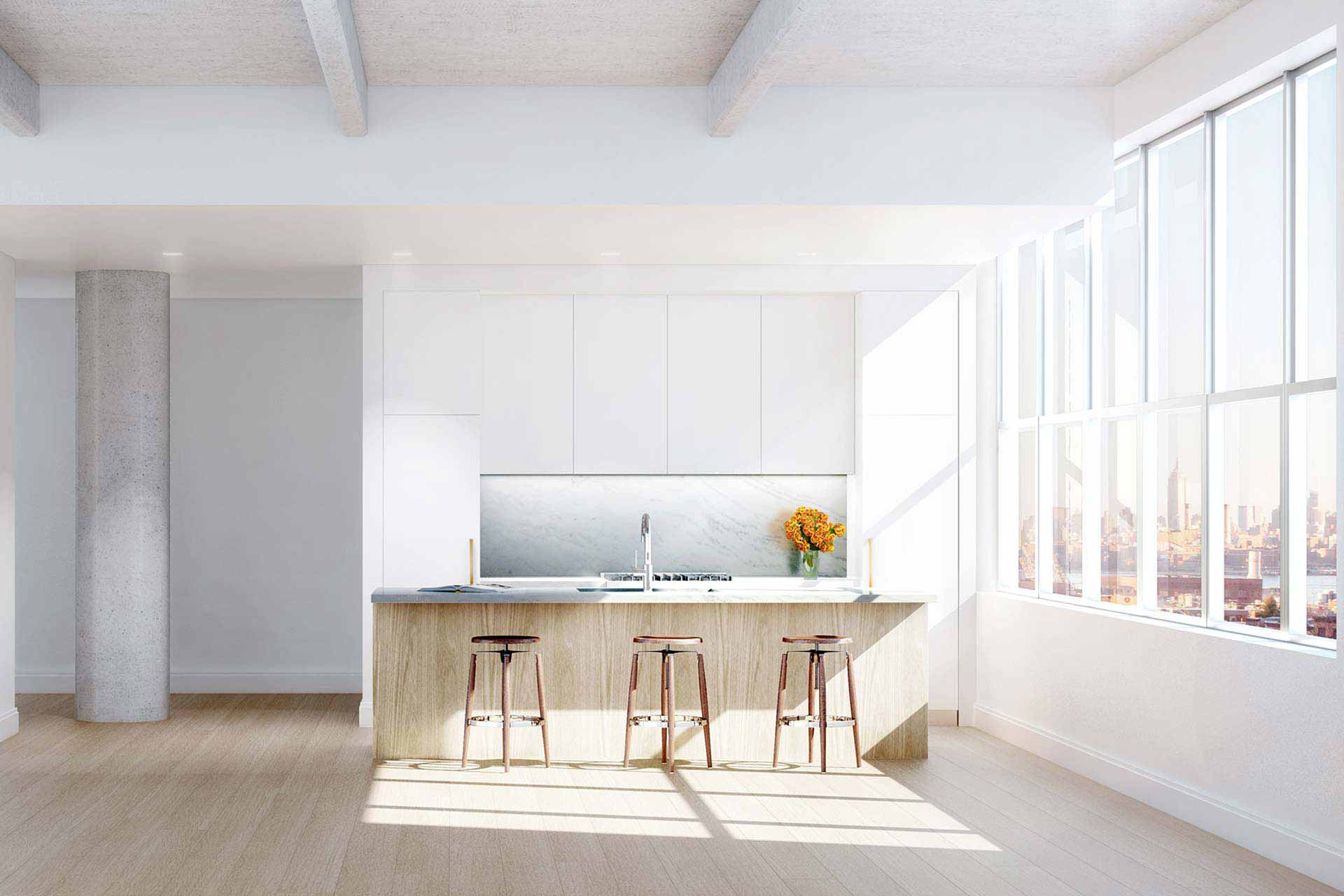 Kitchen rendering in Brooklyn