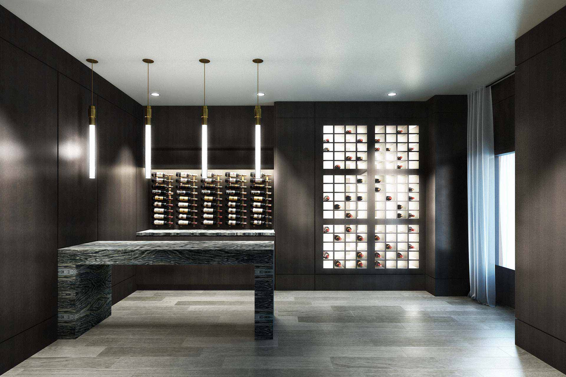 Rendering of wine cellar